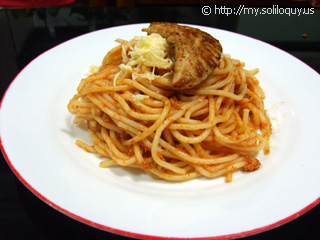 Spaghetti with Grilled Chicken!